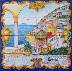 Landscape Tile Positano Terrace Ceramic Kitchen Backsplash Tiles
