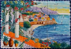 Landscape Tile Art Amalfi Luxury Backsplash for Kitchen