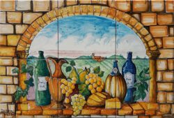 Backsplash Tile Murals - Italian Country and Chianti Wine Backsplash Ideas