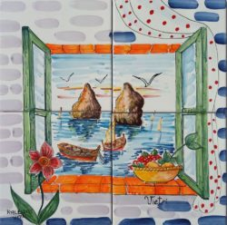 "Landscape Tile Art Backsplash Ideas ""Tiles 4 Vietri Mosaic"""