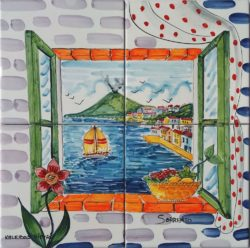 "Landscape Tile Art Backsplash Ideas ""Tiles 4 Sorrento Mosaic"""