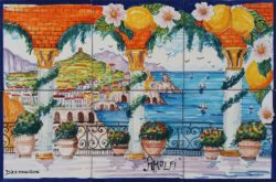 Amalfi Colonnade Luxury Art Landscape Tiles