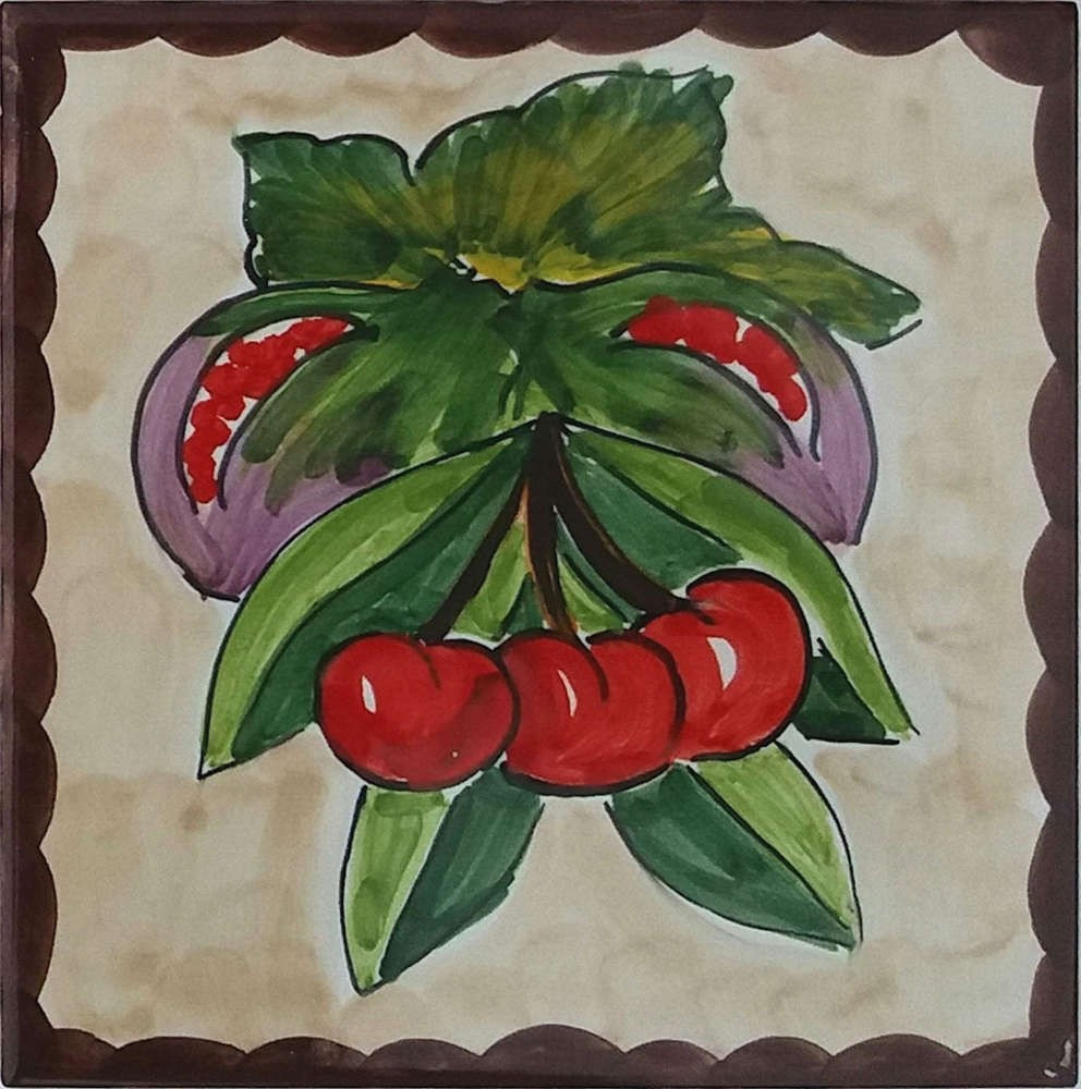 Figs and Cherries Accent Tiles - Tile Art Ceramic