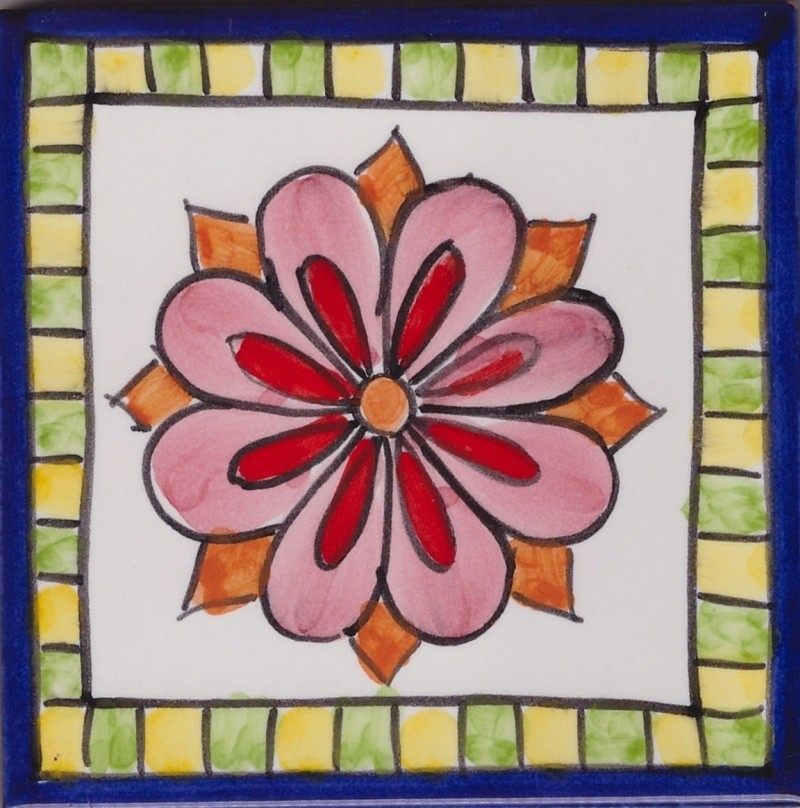 Positano 6 Italy Hand Painted Ceramic Abstract Accent