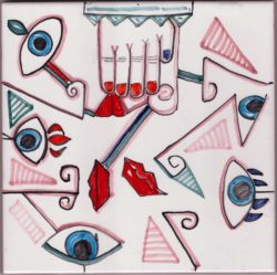 Picasso Style 1 Accent Tiles - Luxury Tile Art Ceramic