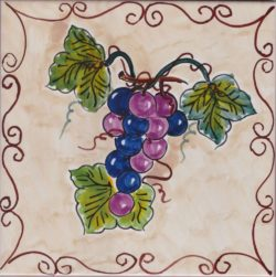 Italian Wine Grape Accent Tiles - Tile Art Ceramic