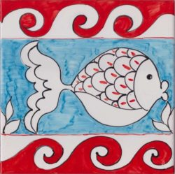Tile Art Ceramic Fish 2 Custom Accent Tile