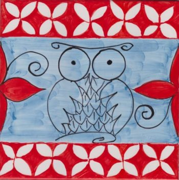 Owl Accent Tiles - Decorative Custom Tiles Mosaic Tile Art