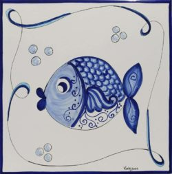 Tile Art Ceramic Fish 3 Custom Accent Tile