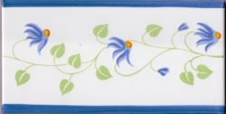 Border Tile Amalfi 7 Abstract Hand Painted Ceramic Tiles