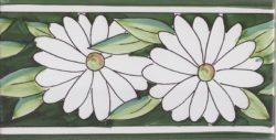 Border Tile Flowers Hand Painted Ceramic Tiles
