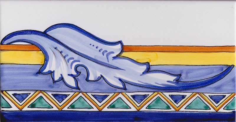 Border Tile Amalfi 1 Abstract Hand Painted Ceramic Tiles