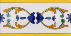 Border Tile Amalfi 2 Abstract Hand Painted Ceramic Tiles