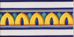 Border Tile Amalfi 5 Abstract Hand Painted Ceramic Tiles