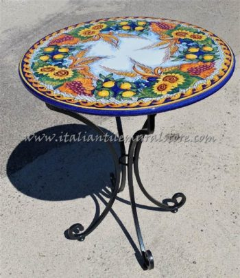 Volcanic Outdoor Table Mixed Fruit